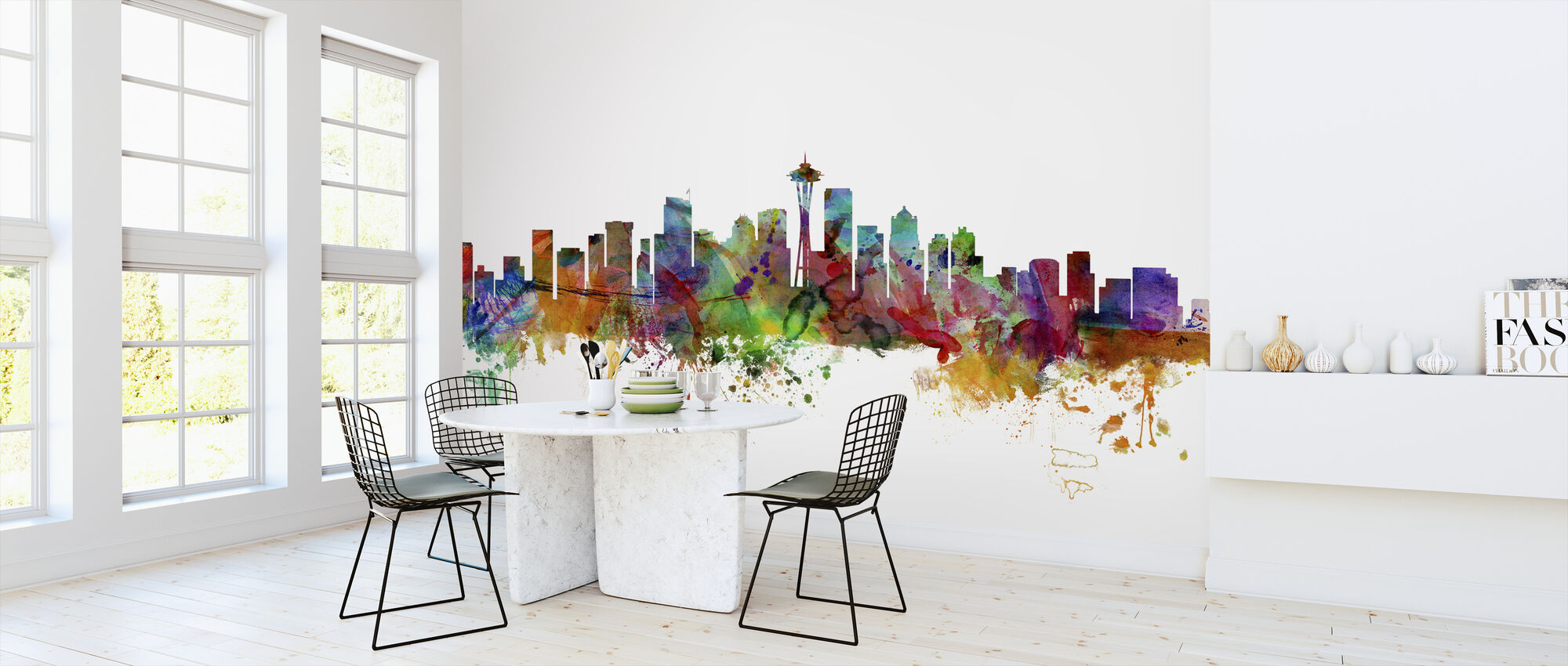 Seattle Washington Skyline - Wallpaper - Kitchen