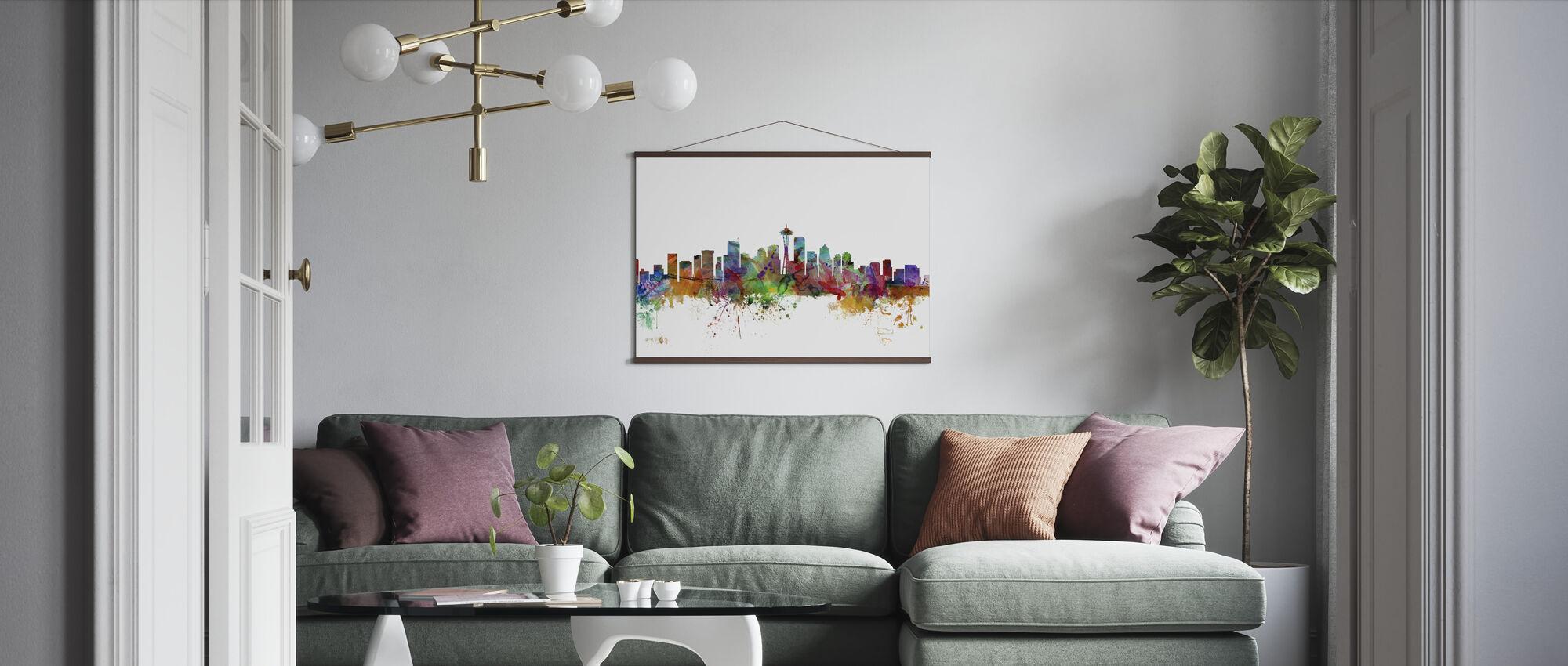 Seattle Washington Skyline - Plakat - Stue