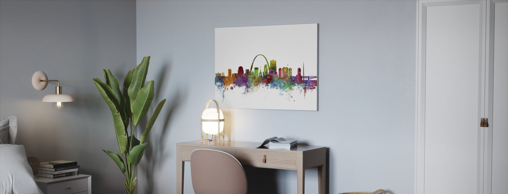 St Louis Missouri Skyline - Billede på lærred - Kontor