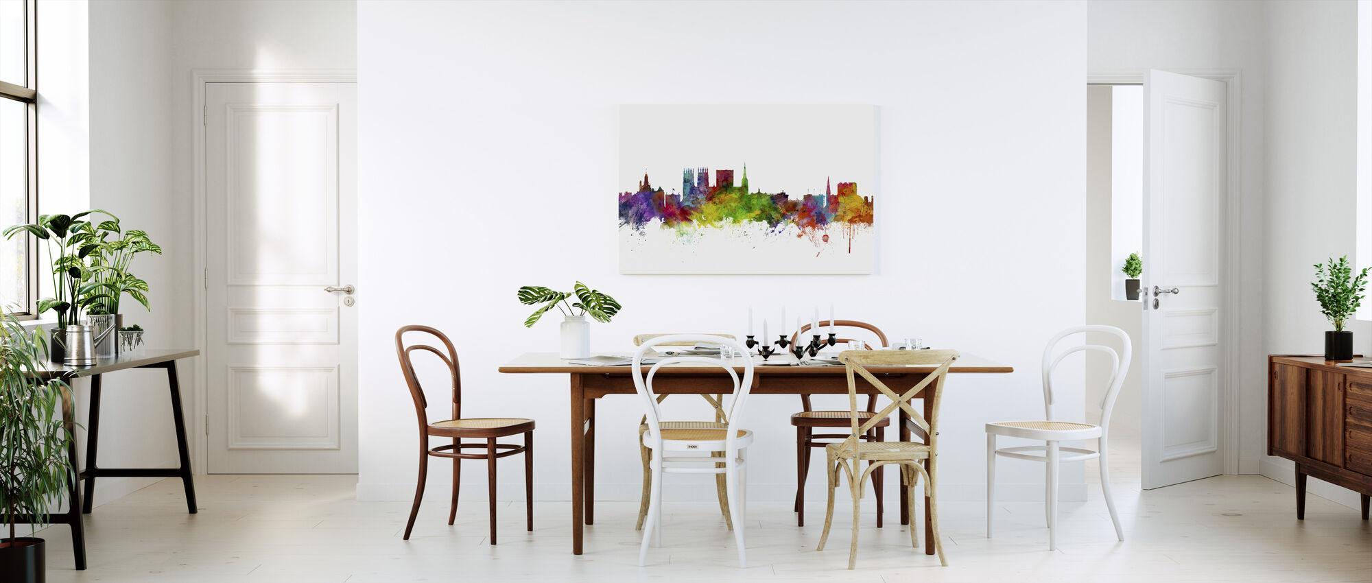 York England Skyline - Canvas print - Kitchen