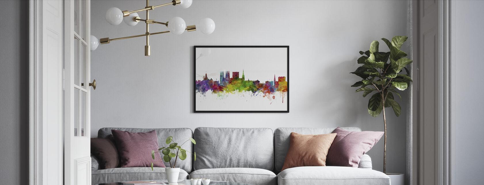 York England Skyline - Framed print - Living Room