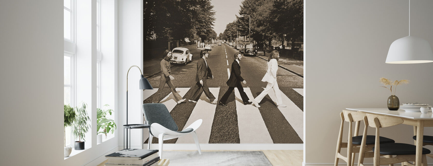 Beatles - Abbey Road Sepia - Wallpaper - Living Room