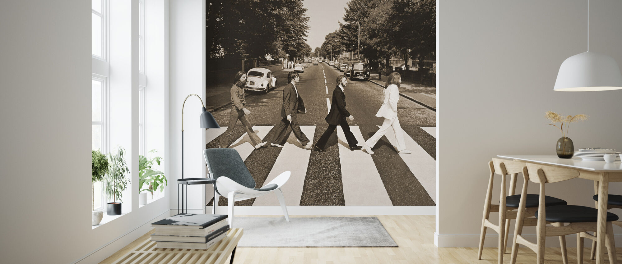 Beatles - Abbey Road Sepia - Tapet - Stue
