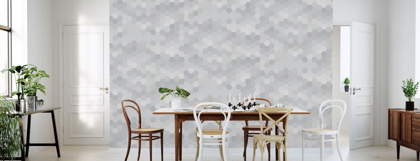 Abstract Mosaic - Warm Grey - Wallpaper - Kitchen