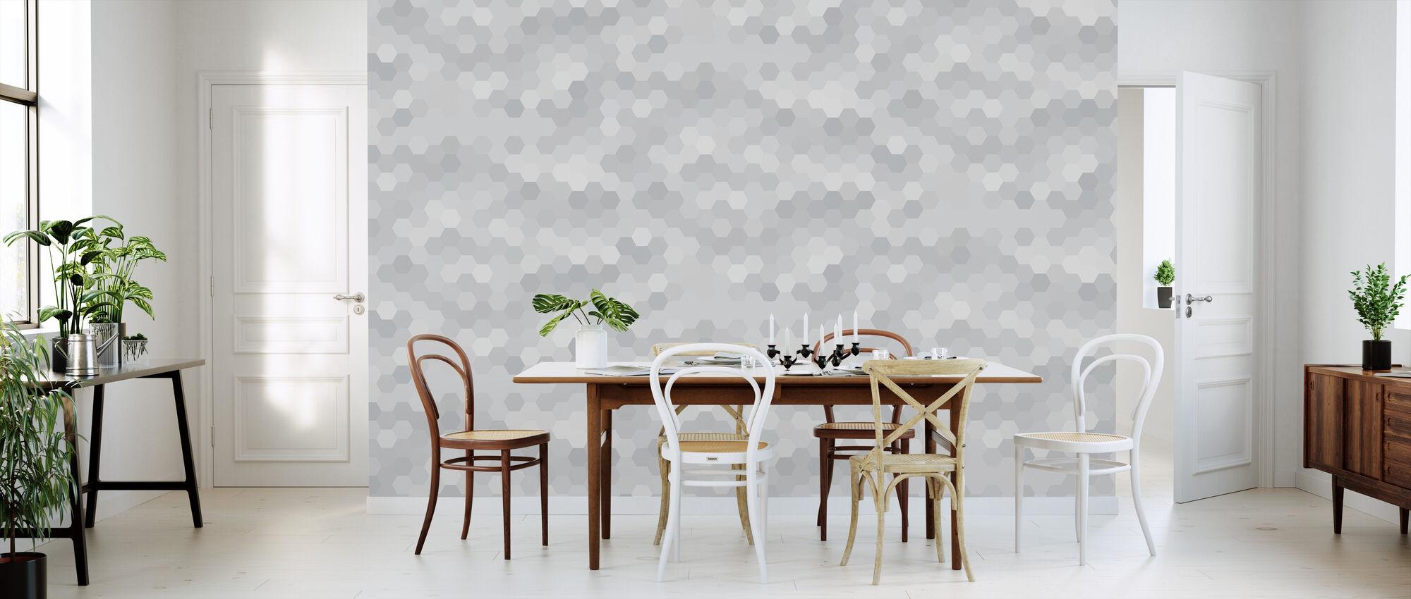 Abstrakt Mosaikk - Varm Grå - Tapet - Kjøkken