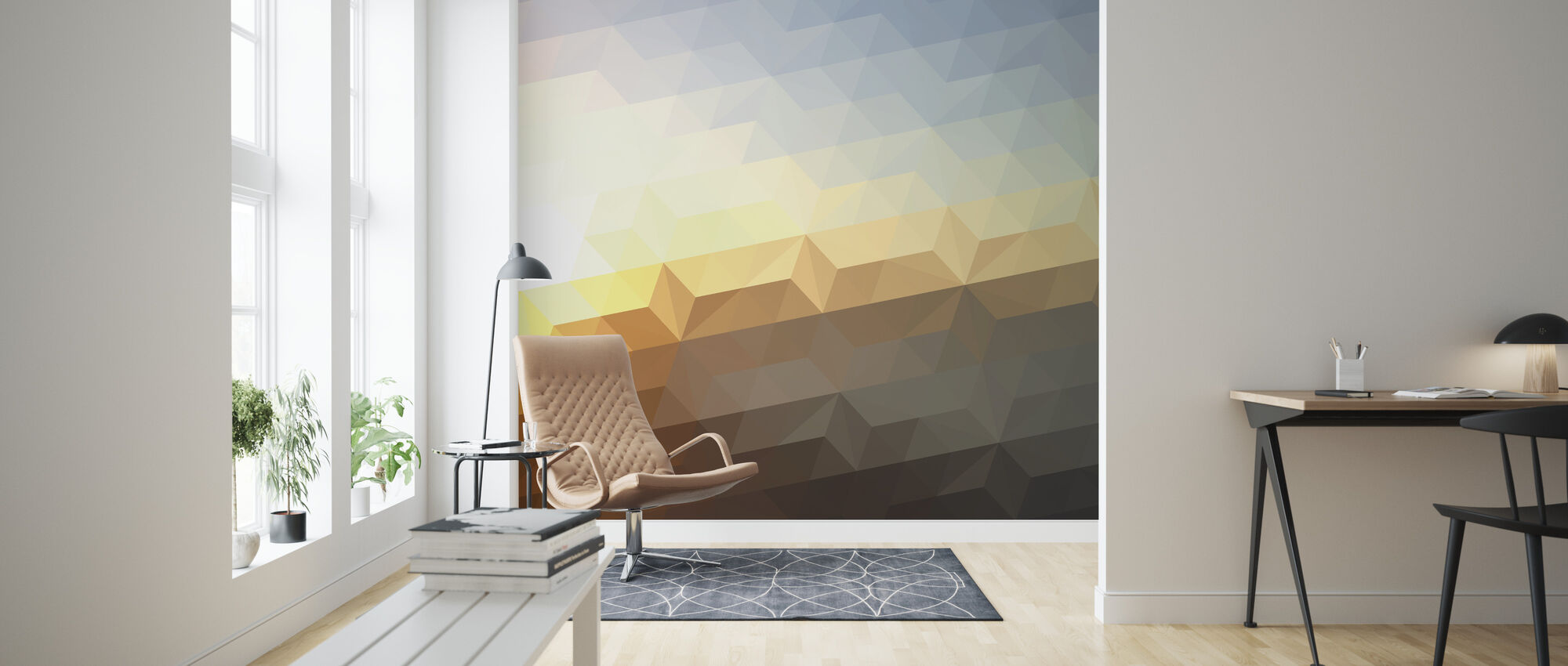 Abstract Sunset - Wallpaper - Living Room