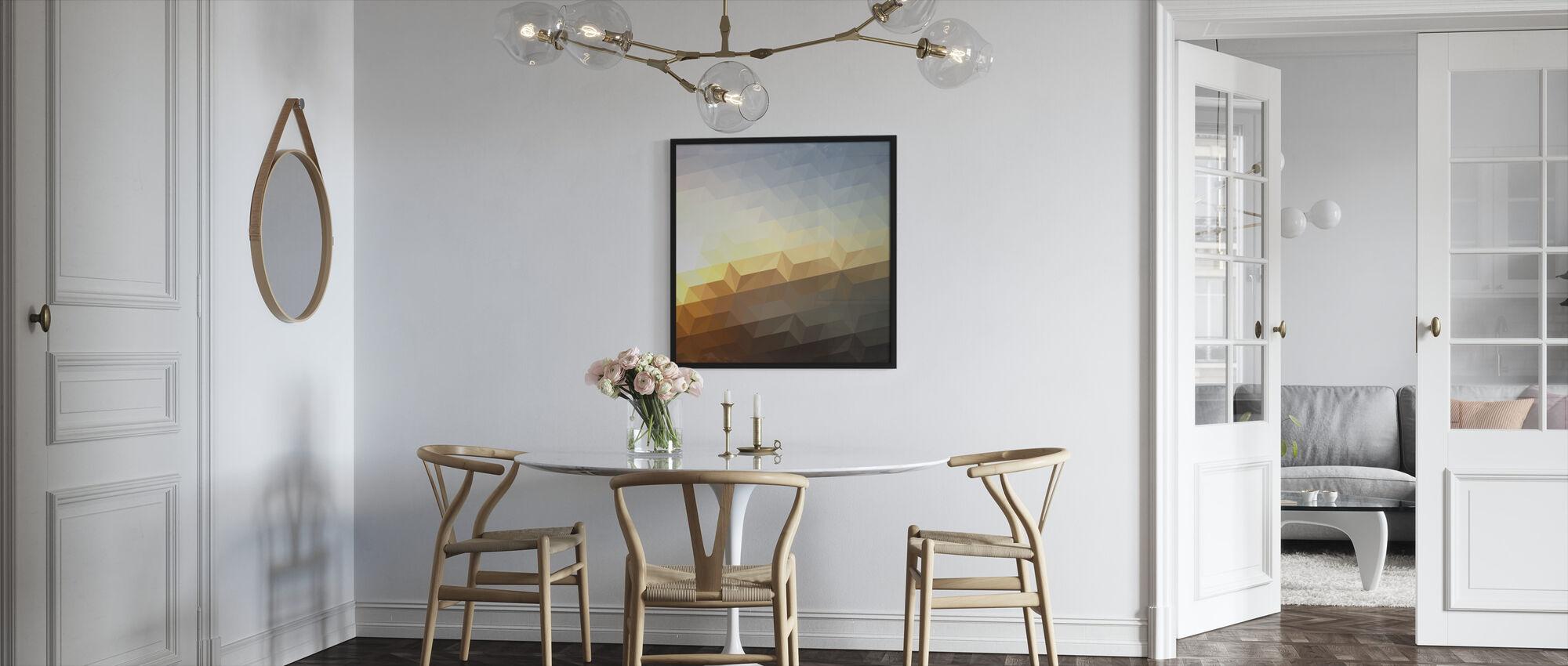 Abstrakt solnedgang - Innrammet bilde - Kjøkken