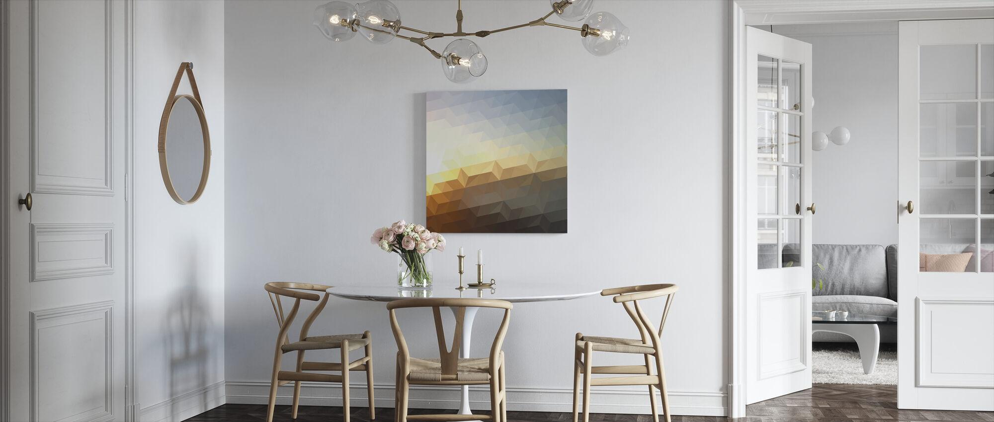 Abstrakti auringonlasku - Canvastaulu - Keittiö