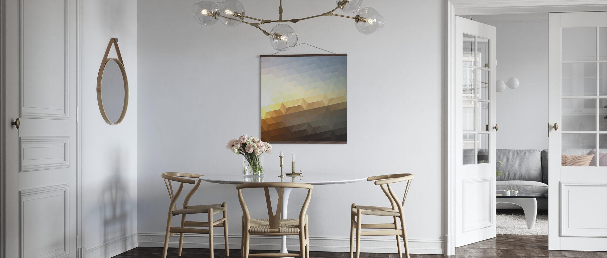 Abstrakti auringonlasku - Juliste - Keittiö