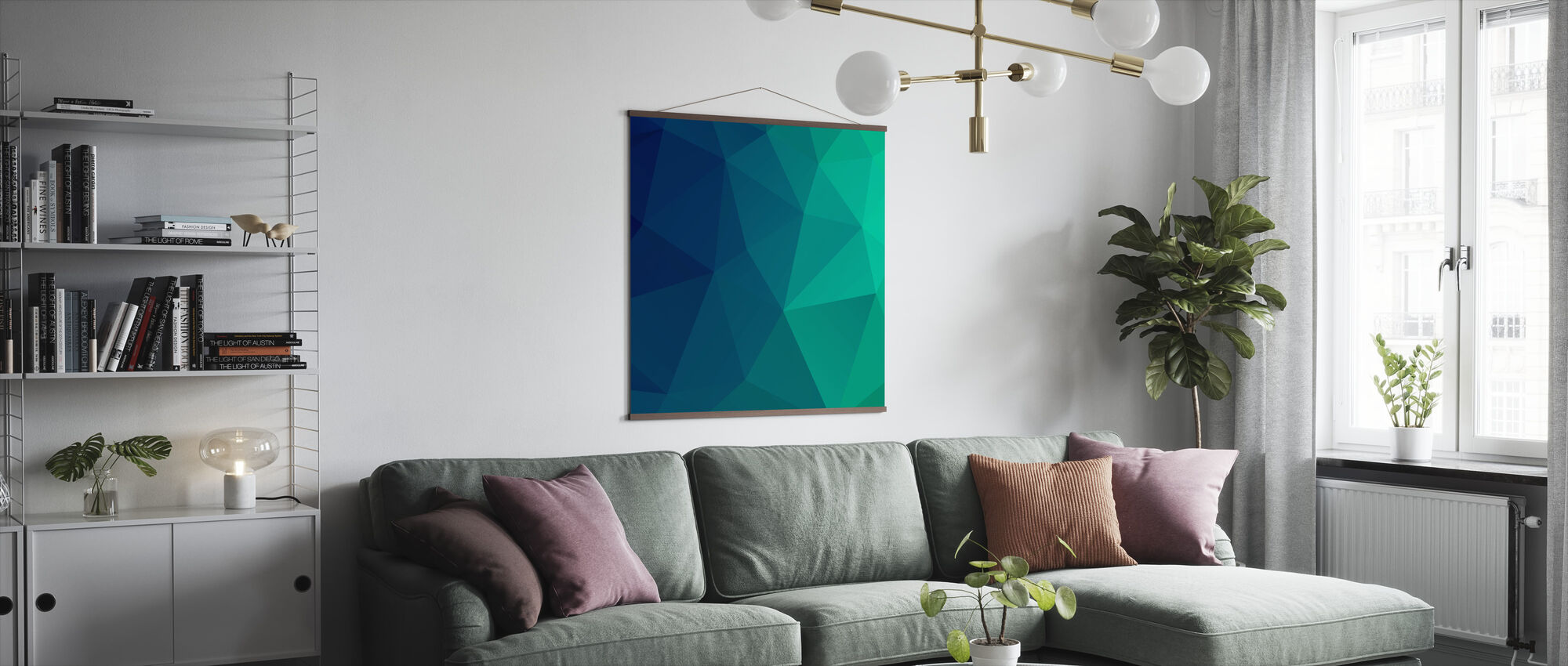 Abstract Triangles - Poster - Living Room