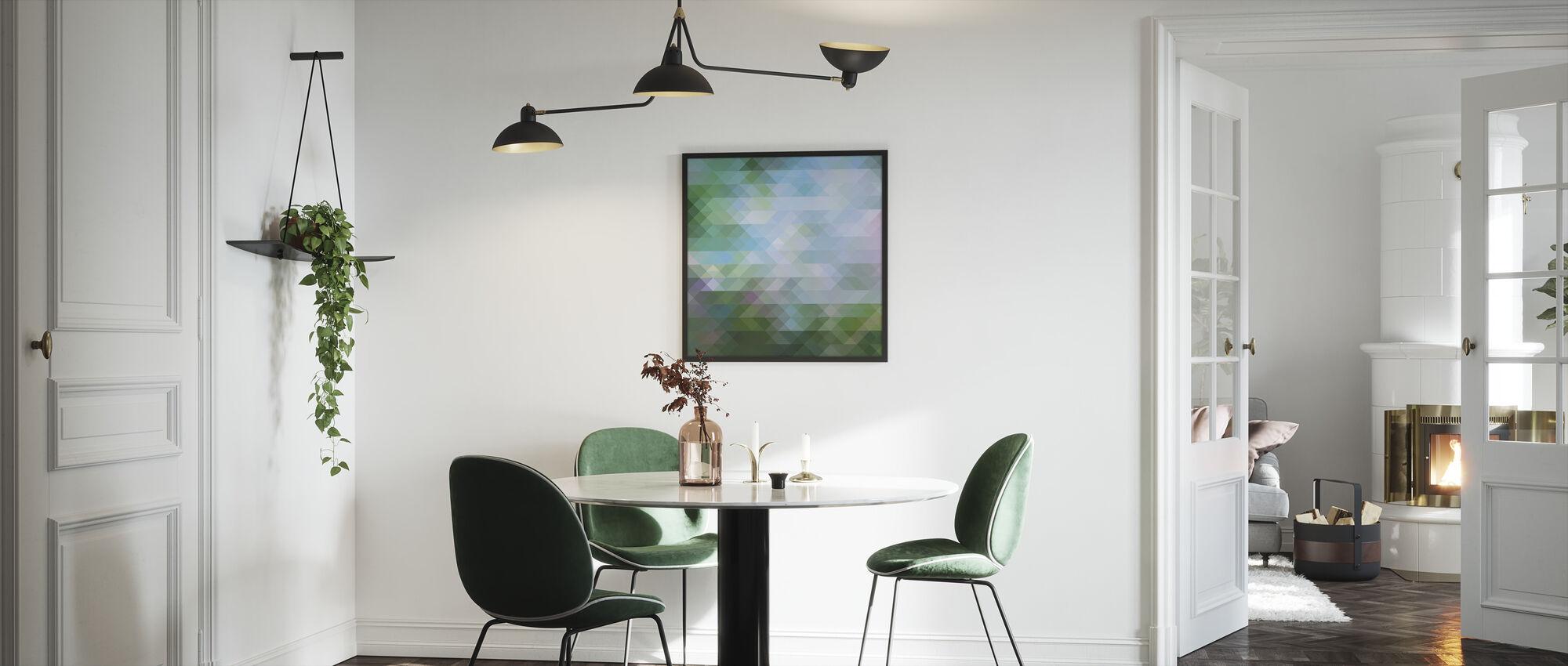 Abstrakt trekantet mønster 2 - Innrammet bilde - Kjøkken