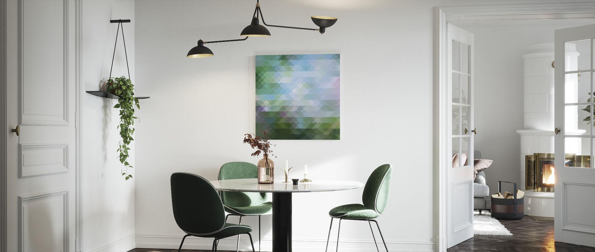 Abstrakt trekantet mønster 2 - Lerretsbilde - Kjøkken