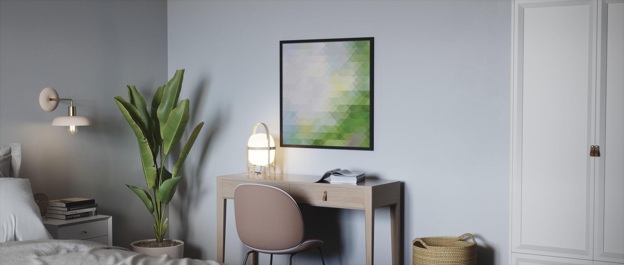 Abstrakt trekantet mønster - Innrammet bilde - Soverom