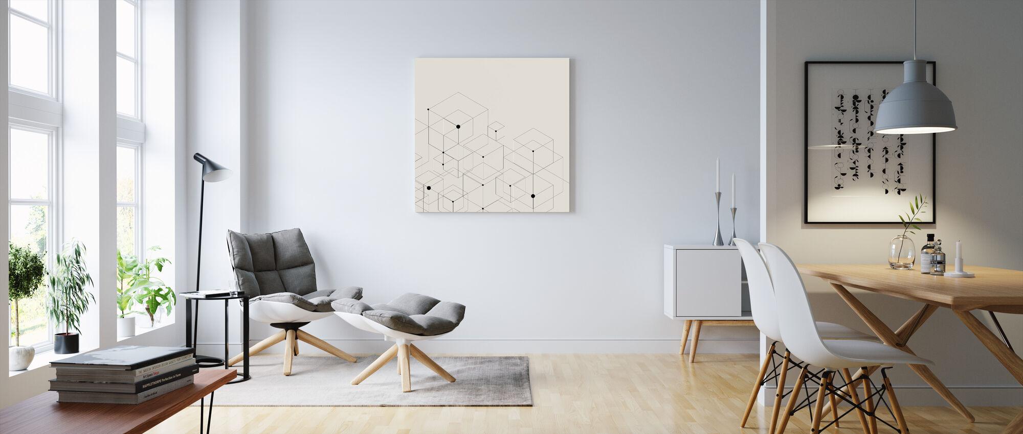 black lines commandez votre impression sur toile en ligne photowall. Black Bedroom Furniture Sets. Home Design Ideas