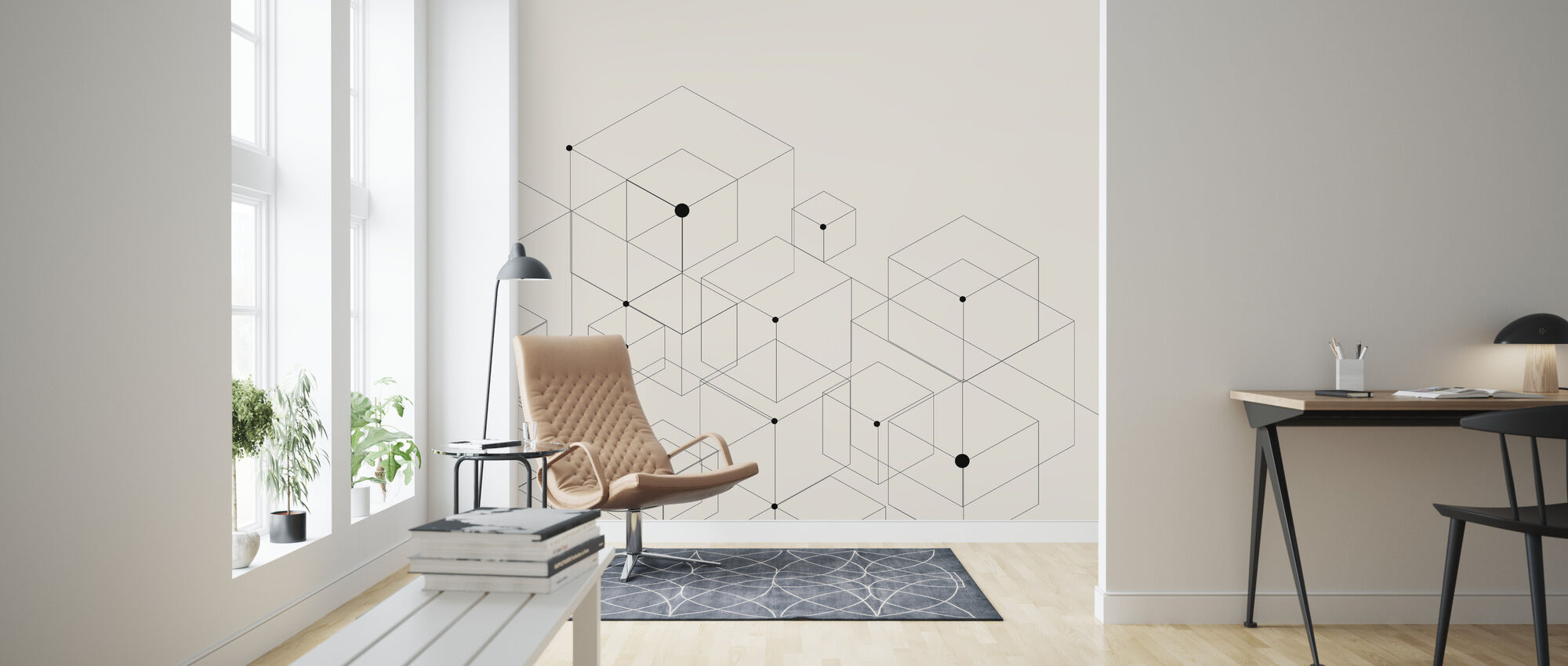 Black Lines - Wallpaper - Living Room