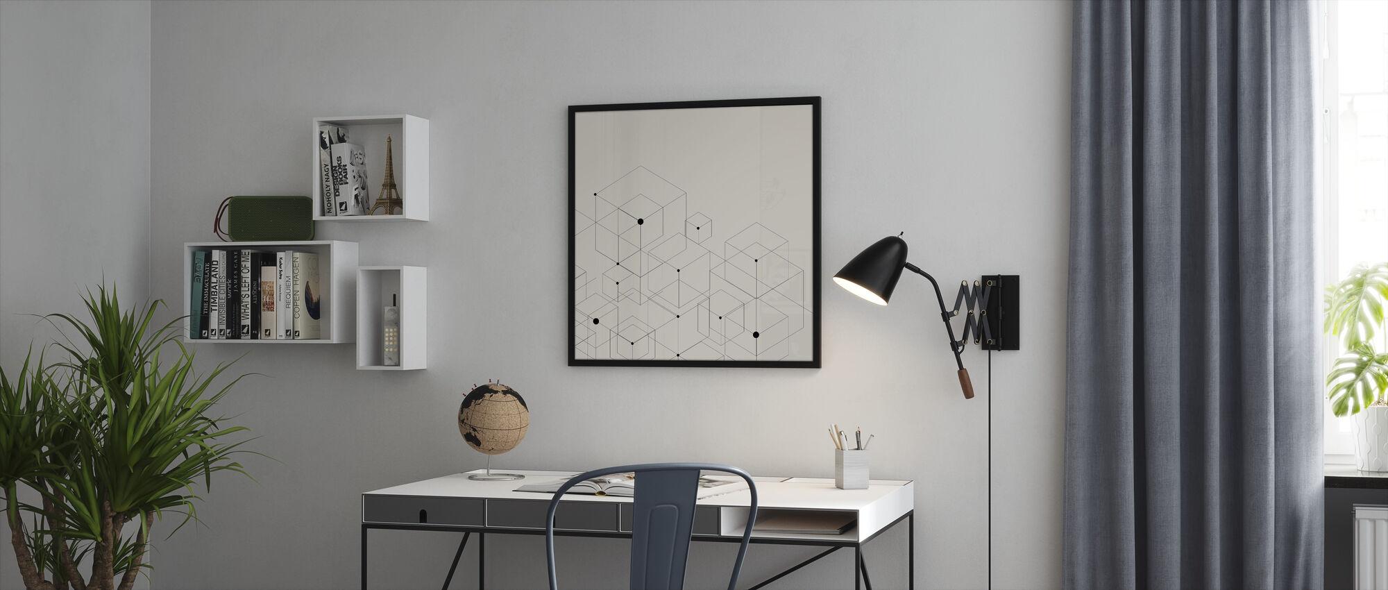 Mustat viivat - Kehystetty kuva - Toimisto