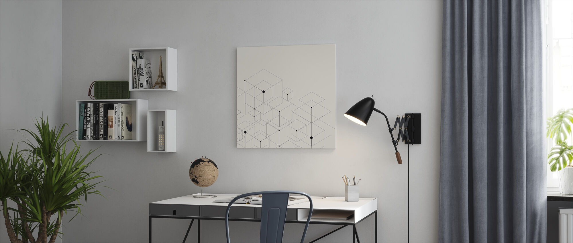 Black Lines - Canvas print - Office