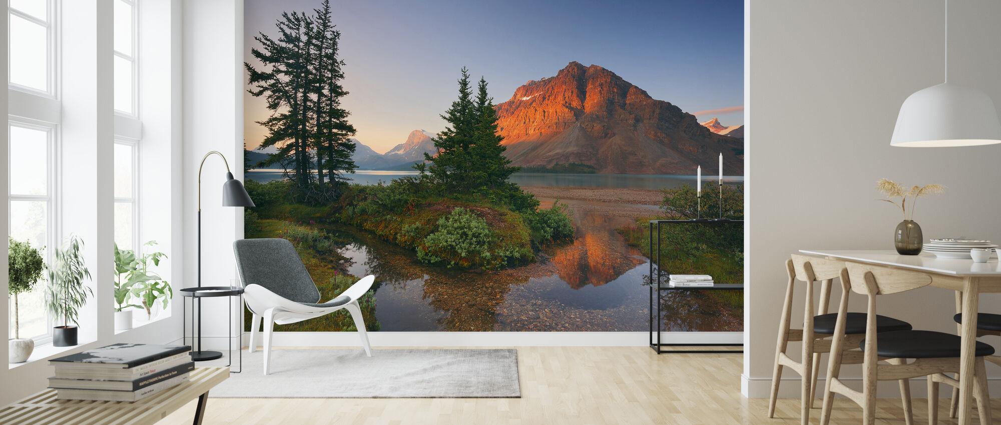 Crowfoot Mountain Reflection - Wallpaper - Living Room