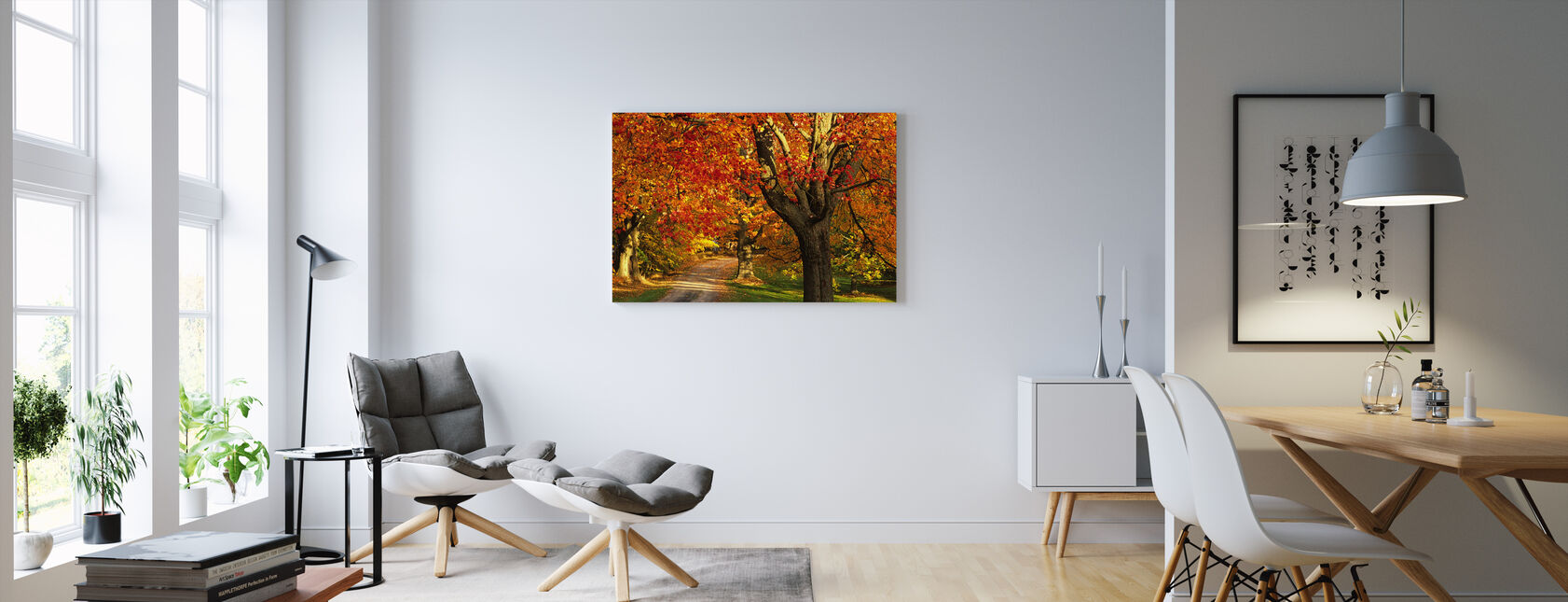 Golden Maple Tree - Canvas print - Living Room