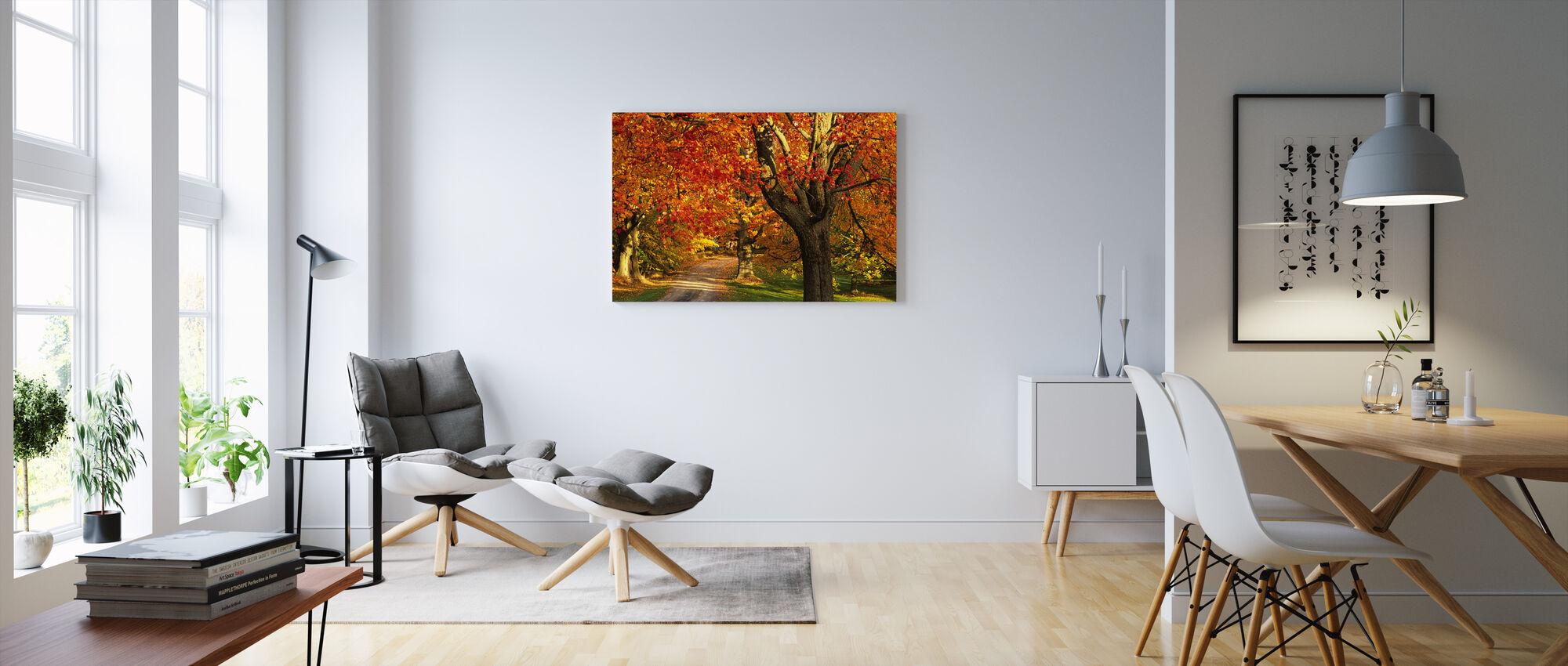 Golden Maple Treet - Lerretsbilde - Stue