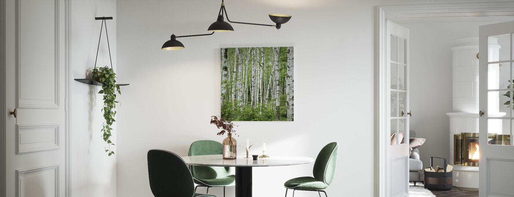 Summer Birch Trees - Canvas print - Kitchen