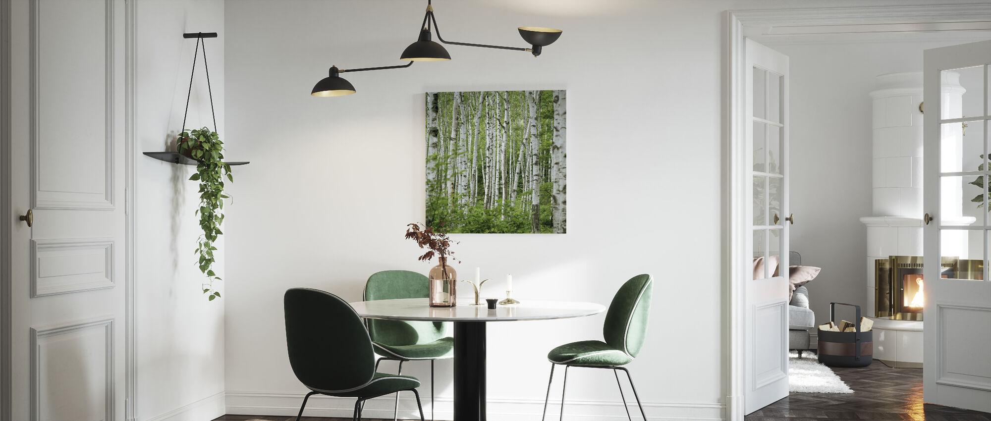 Sommer bjørk trær - Lerretsbilde - Kjøkken