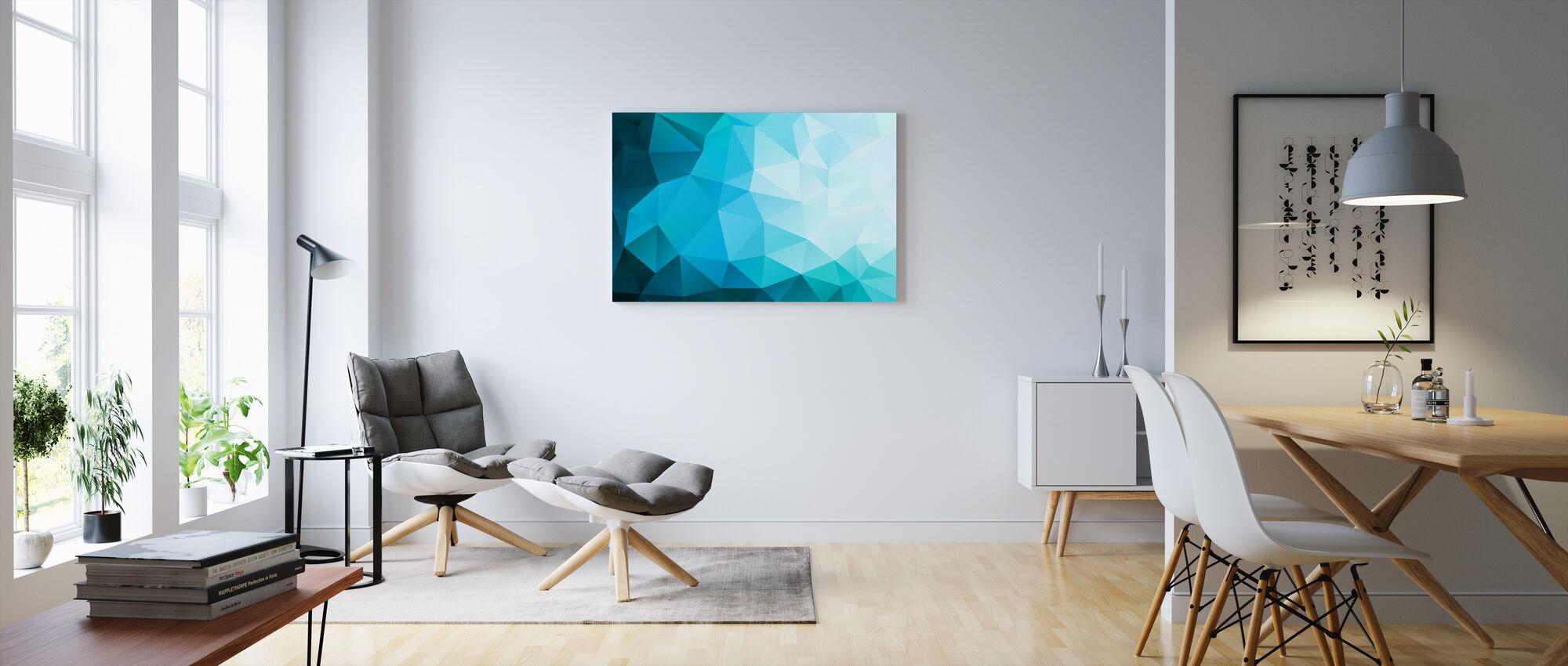Blue Polygonal - Canvas print - Living Room