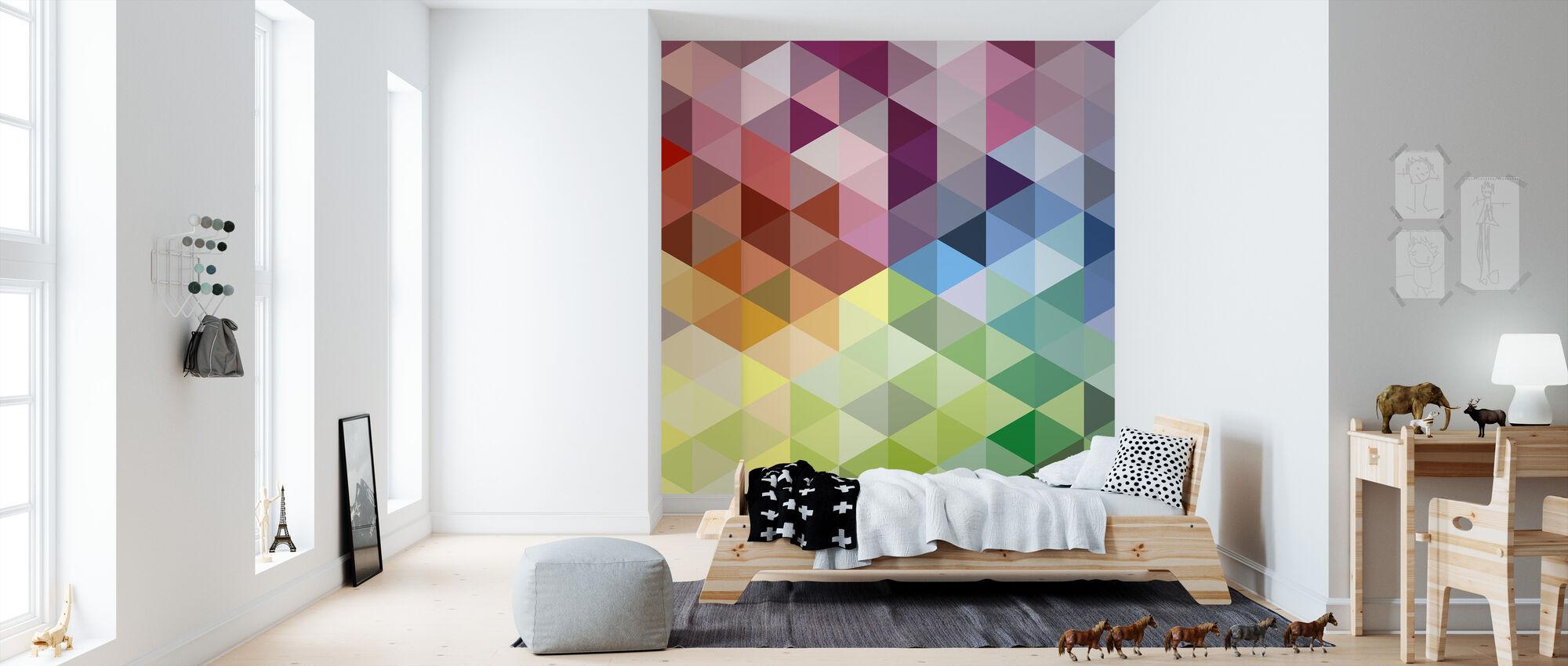 colorful triangles fototapete nach ma photowall. Black Bedroom Furniture Sets. Home Design Ideas