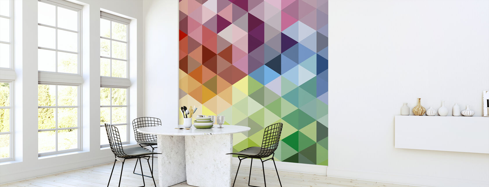 Colorful Triangles - Wallpaper - Kitchen