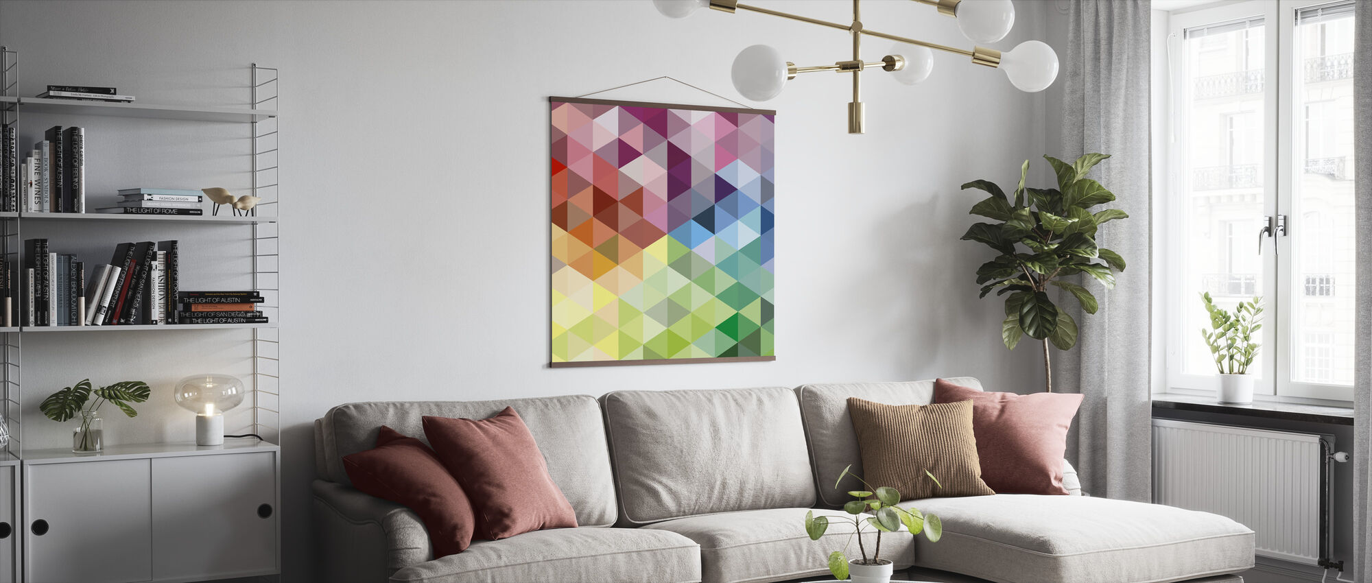 Colorful Triangles - Poster - Living Room