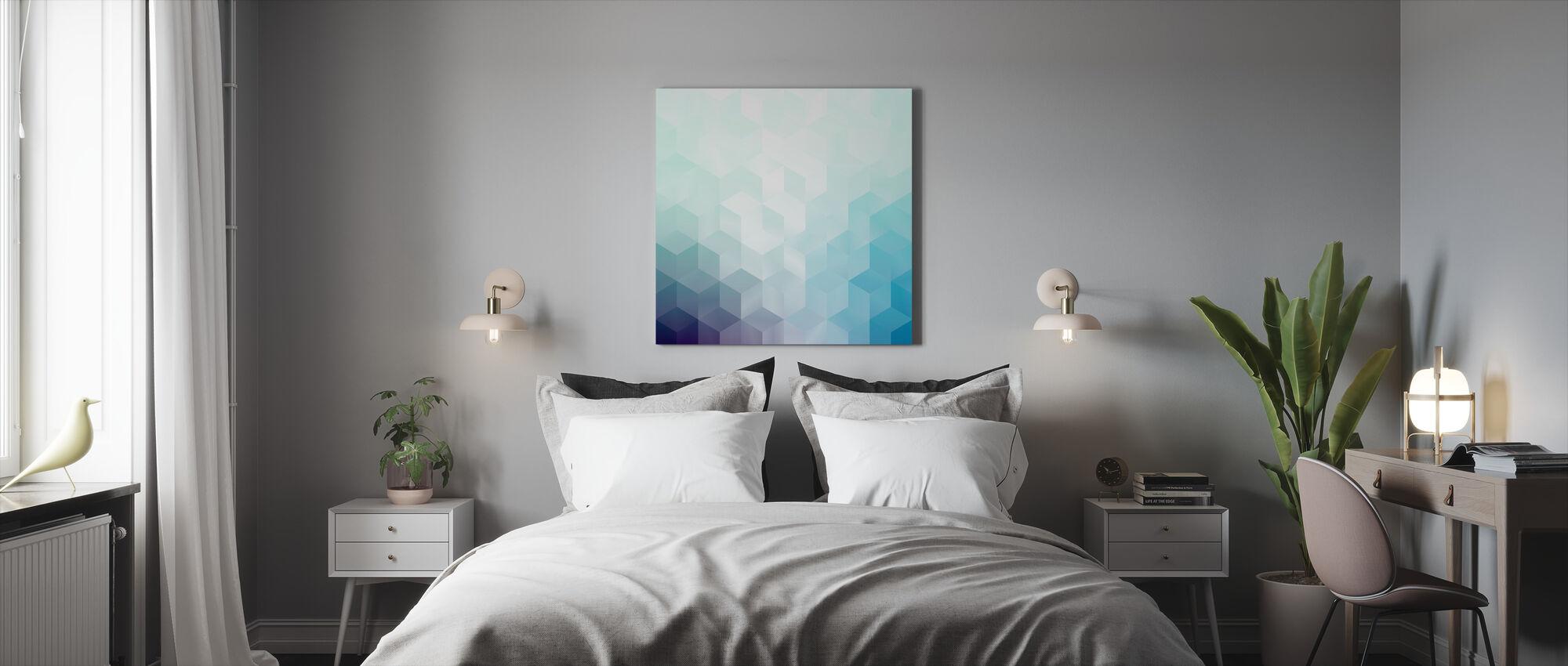 Koel abstract patroon - Canvas print - Slaapkamer