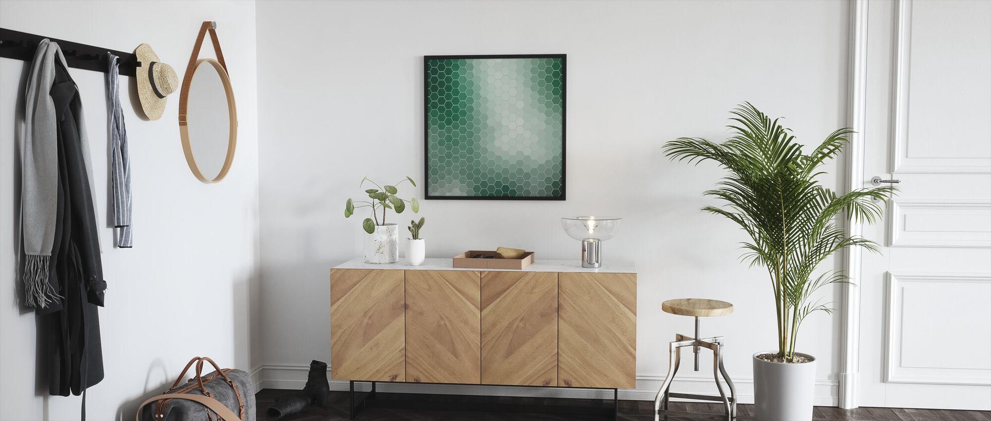 Smaragdgrønne sekskanter - Innrammet bilde - Gang