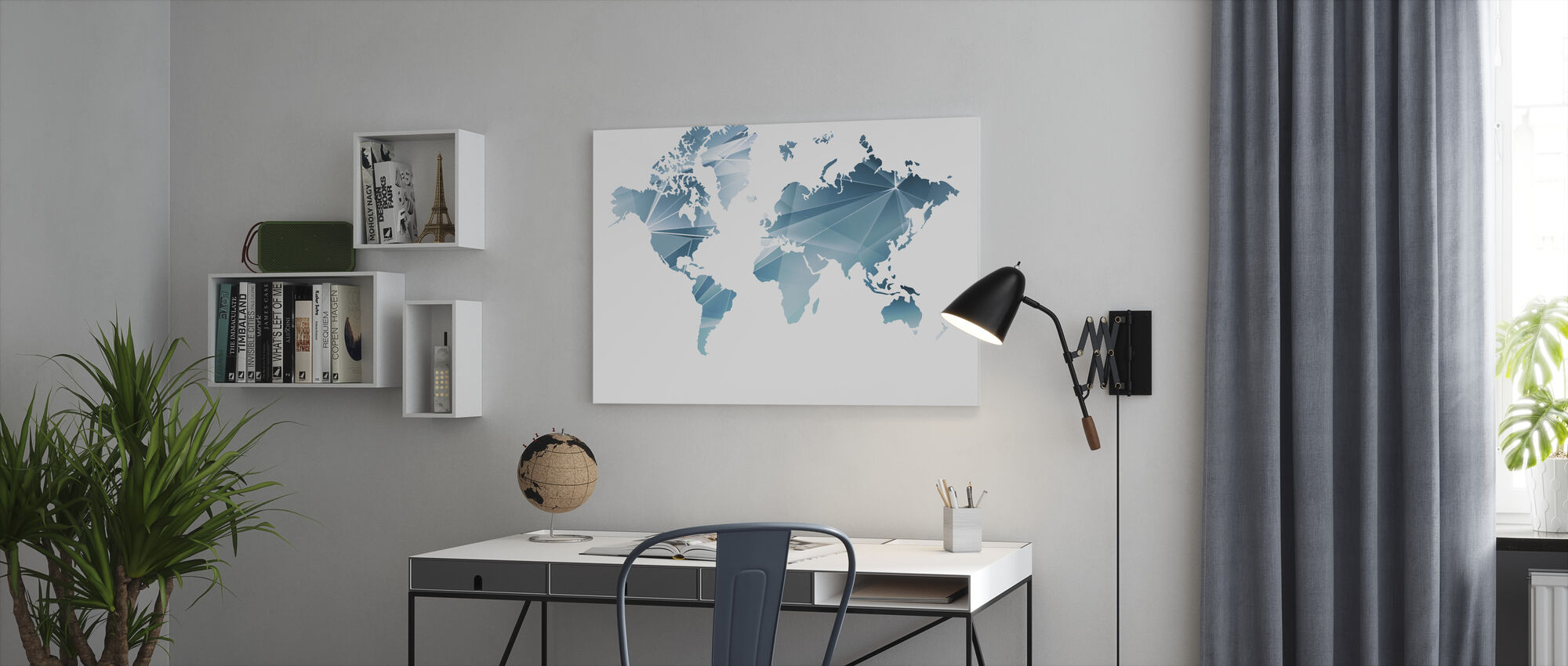 Geometric Concept World Map - Canvas print - Office