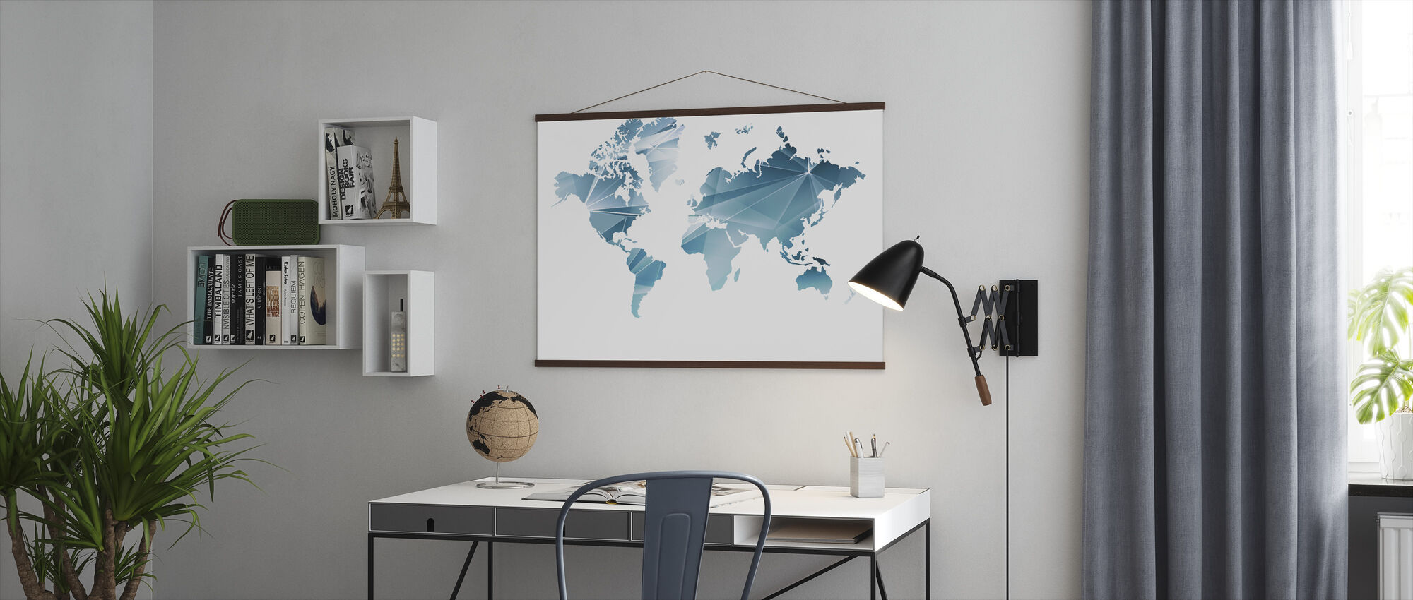 Geometric Concept World Map - Poster - Office