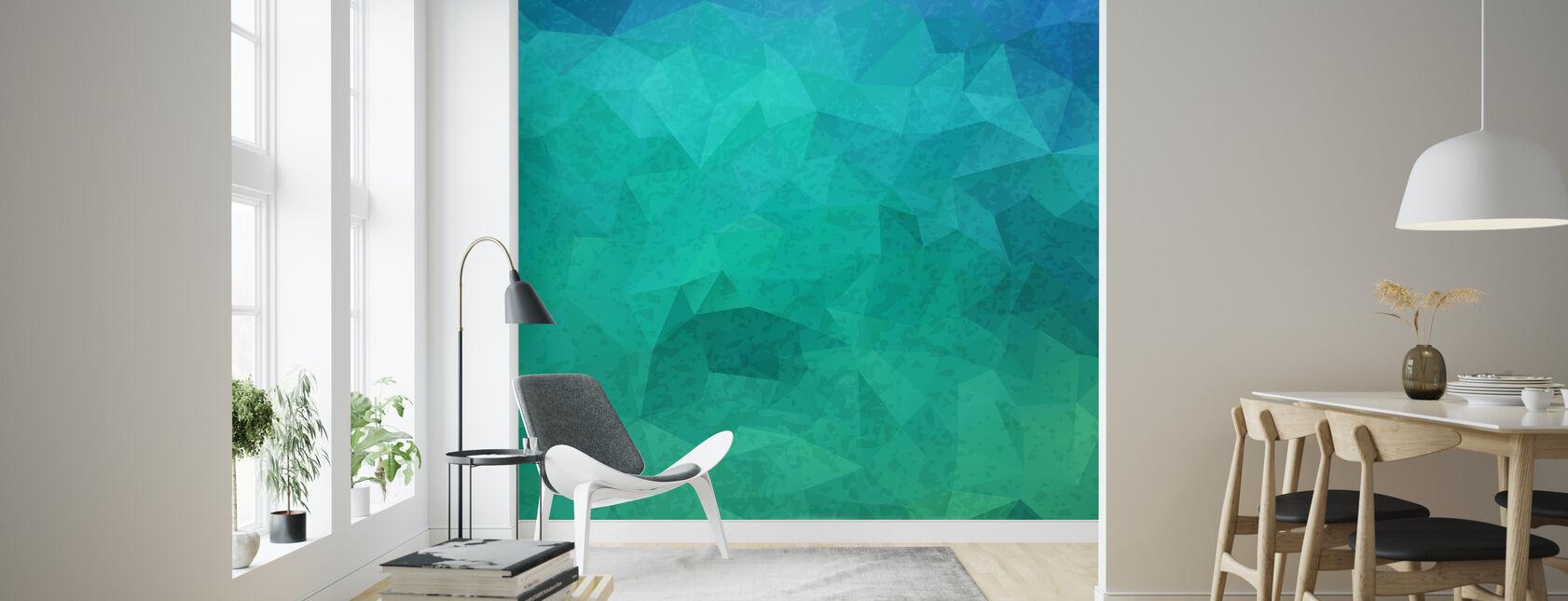 Geometric Hipster - Wallpaper - Living Room