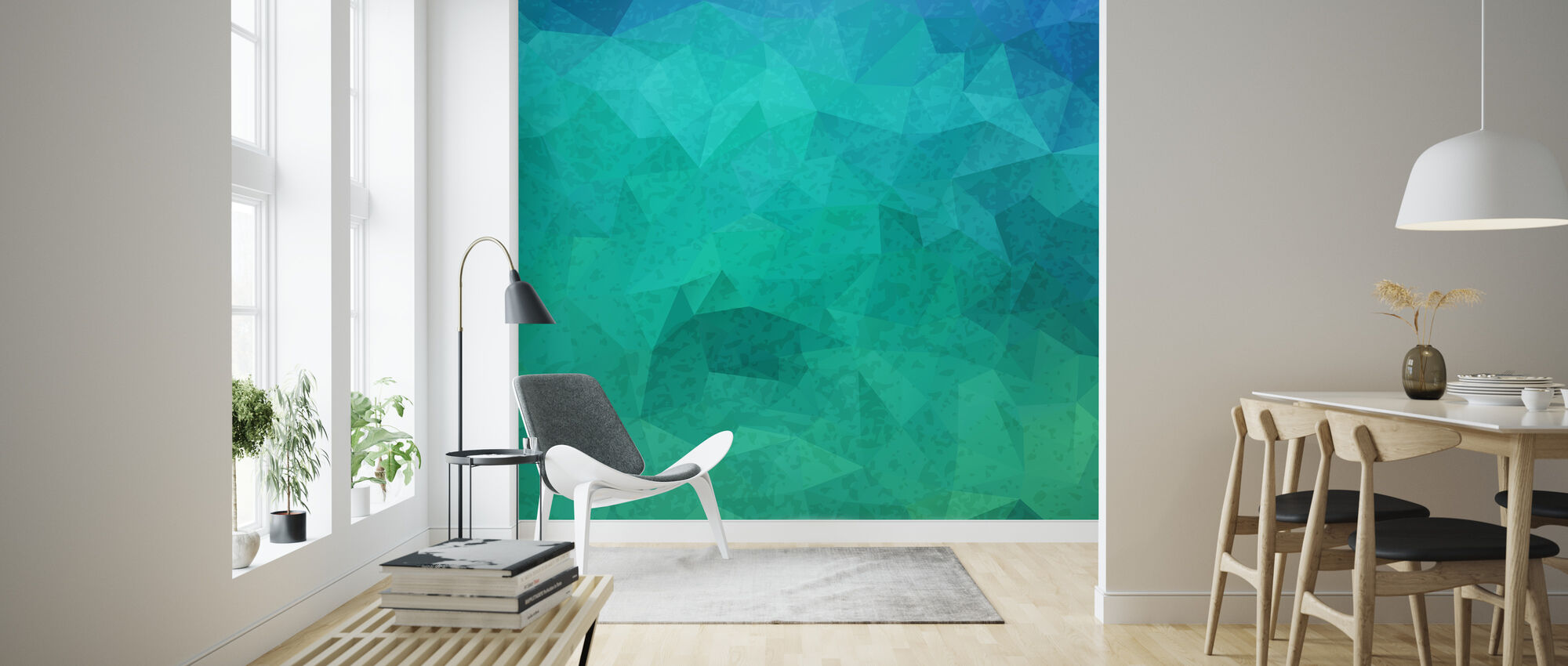 Geometric Hipster - Wallpaper - Living Room