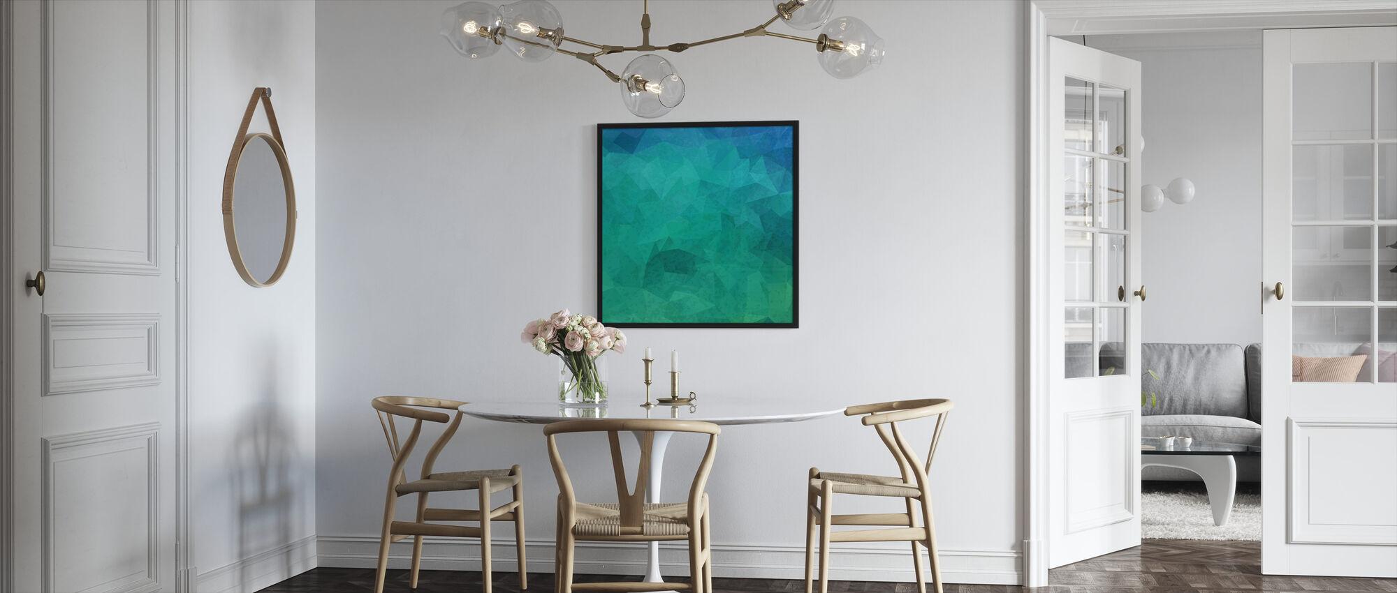 Geometric Hipster - Framed print - Kitchen