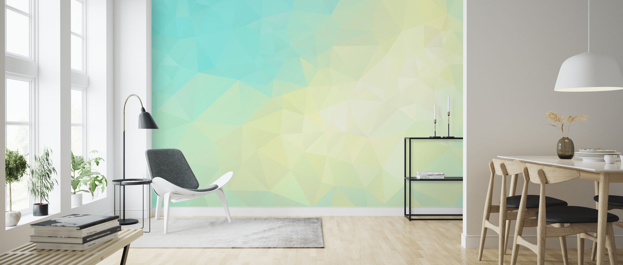 Geometric Sunshine - Wallpaper - Living Room