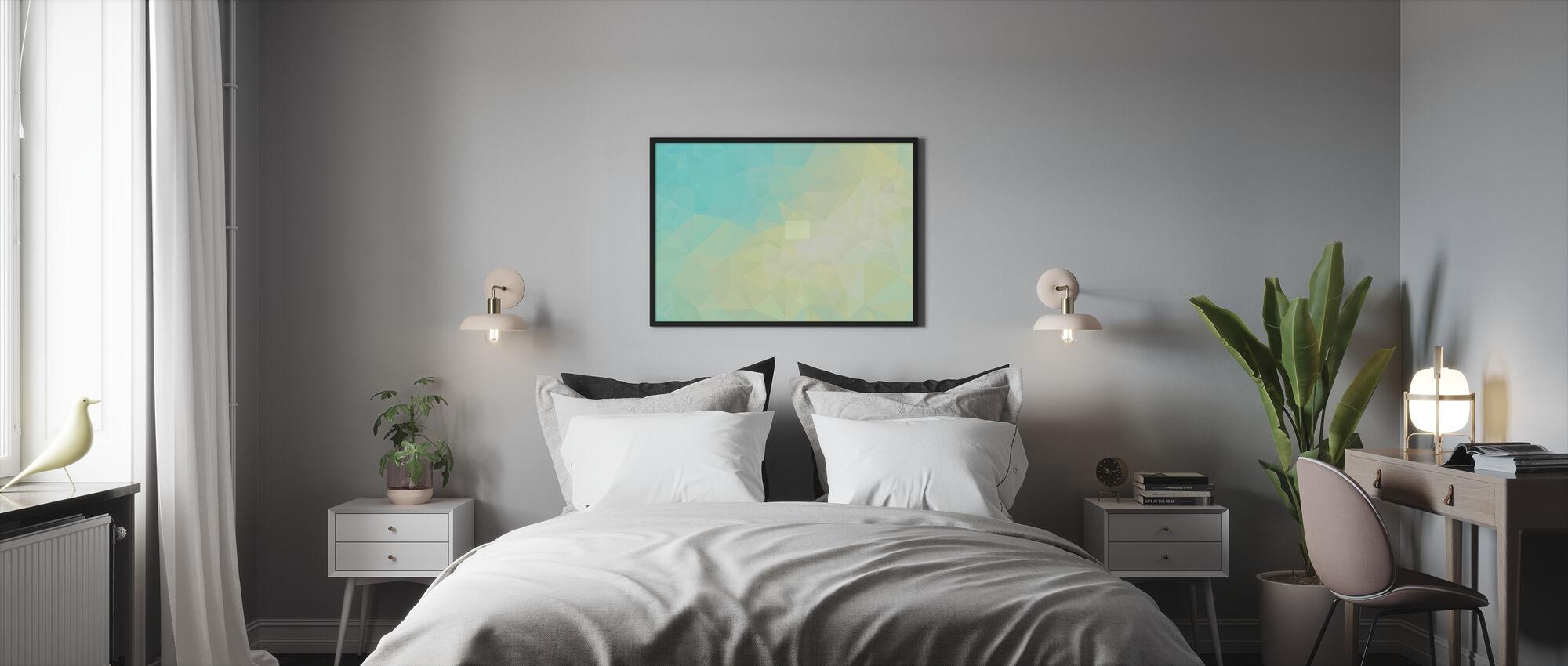 Geometrisk solsken - Inramad tavla - Sovrum