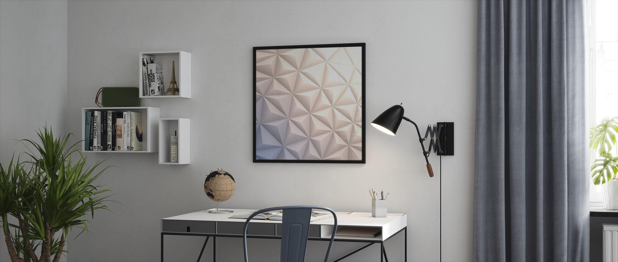 Geometric White - Framed print - Office