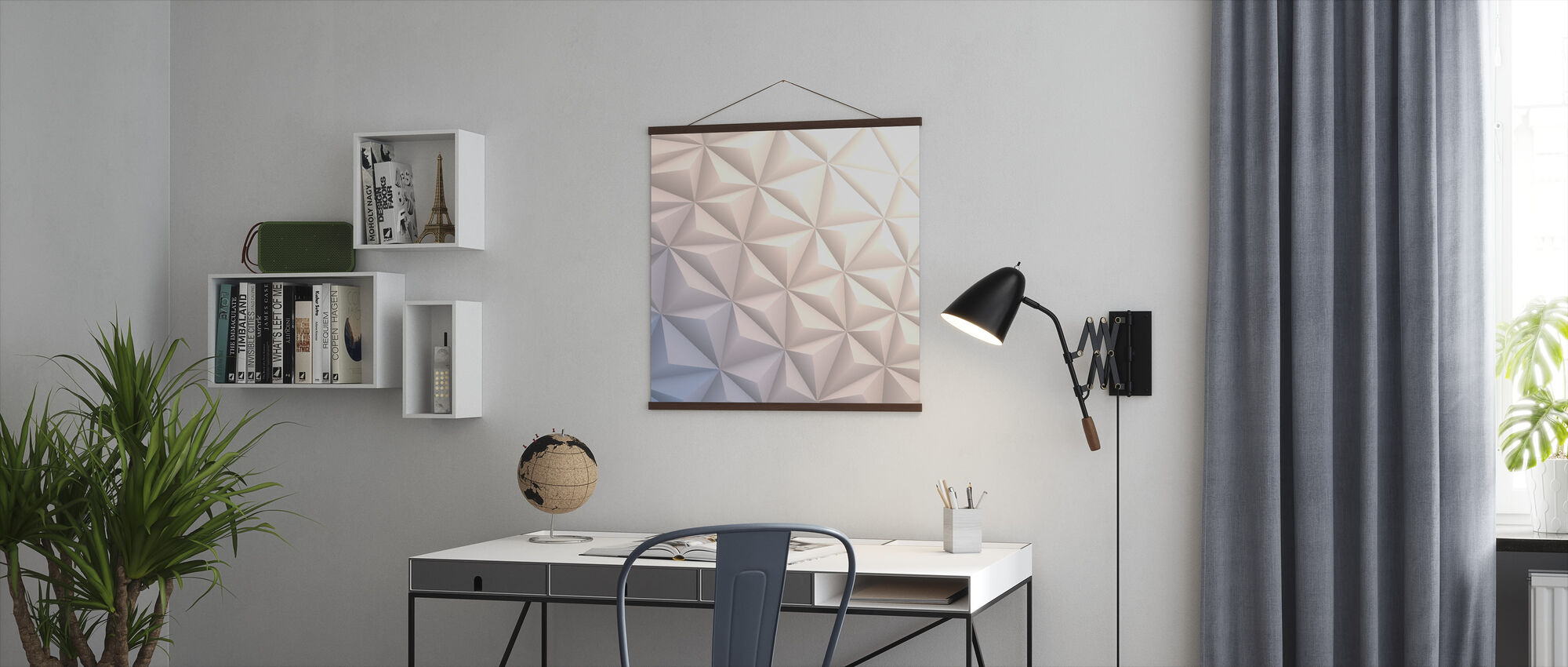Geometric White - Poster - Office
