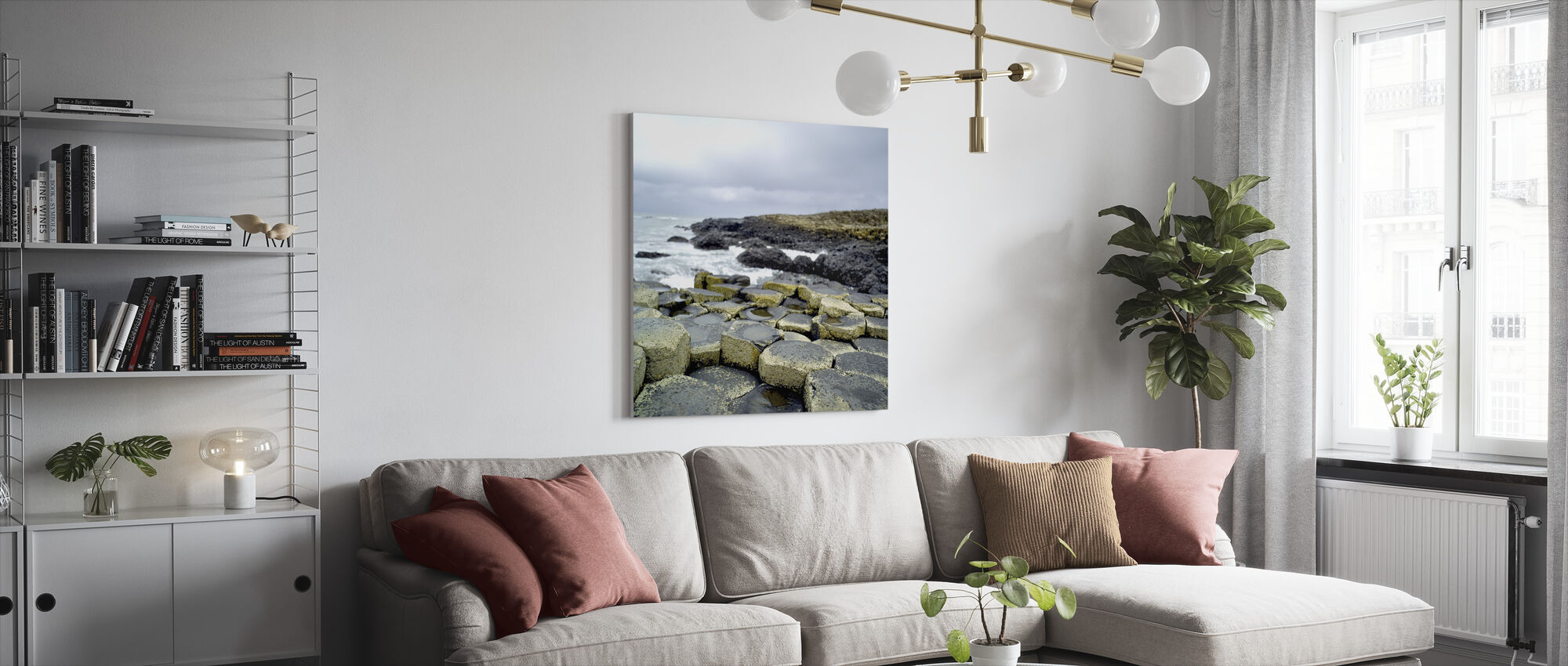 Giants Causeway - Canvas print - Living Room