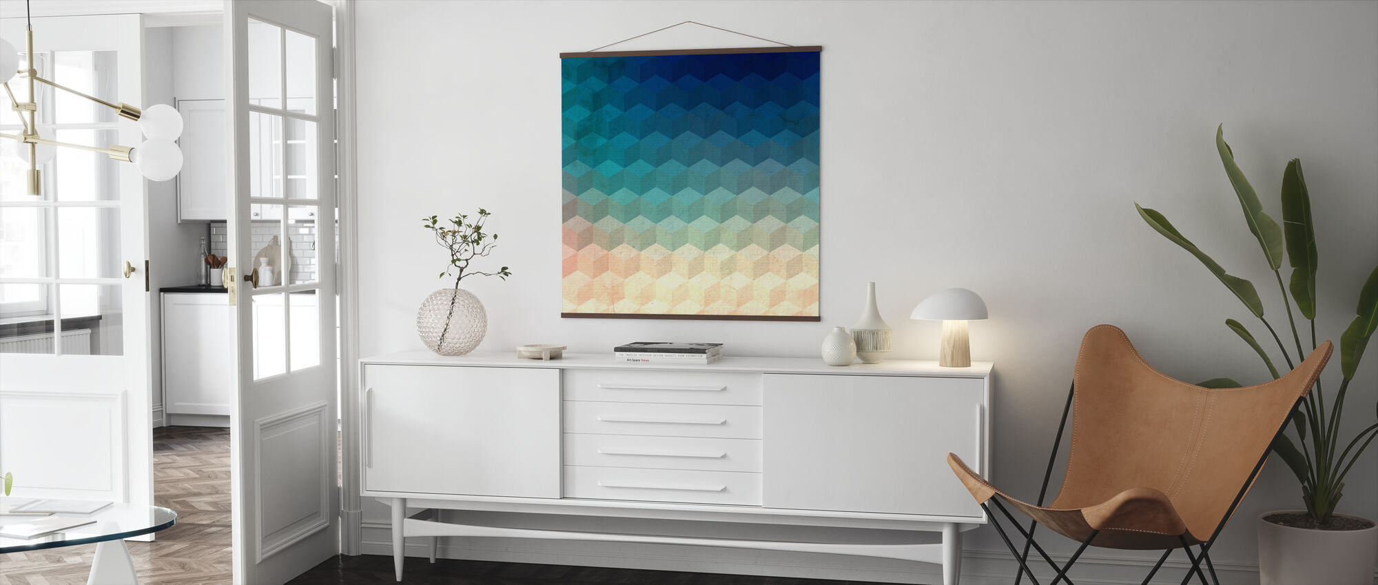 Hexagon Cubes - Poster - Living Room