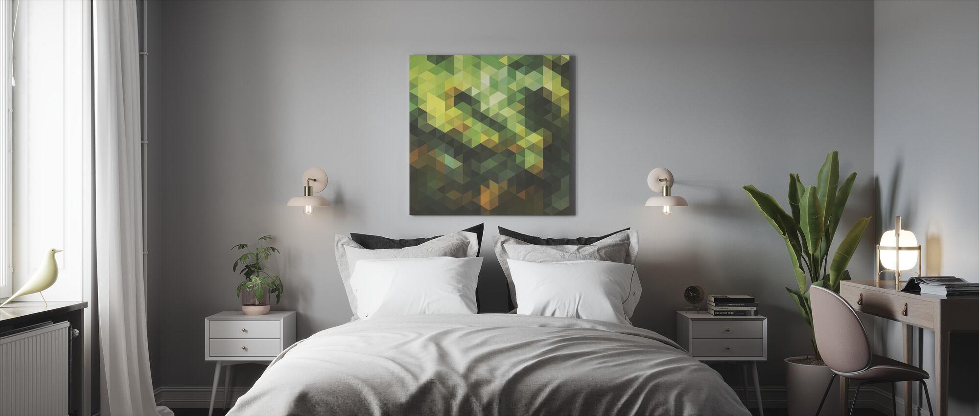 Jungle Triangles - Canvas print - Bedroom