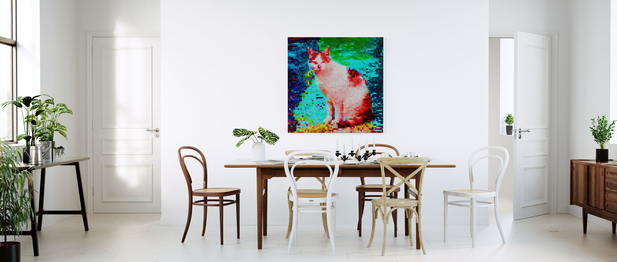 Mosaik Katt - Canvastavla - Kök