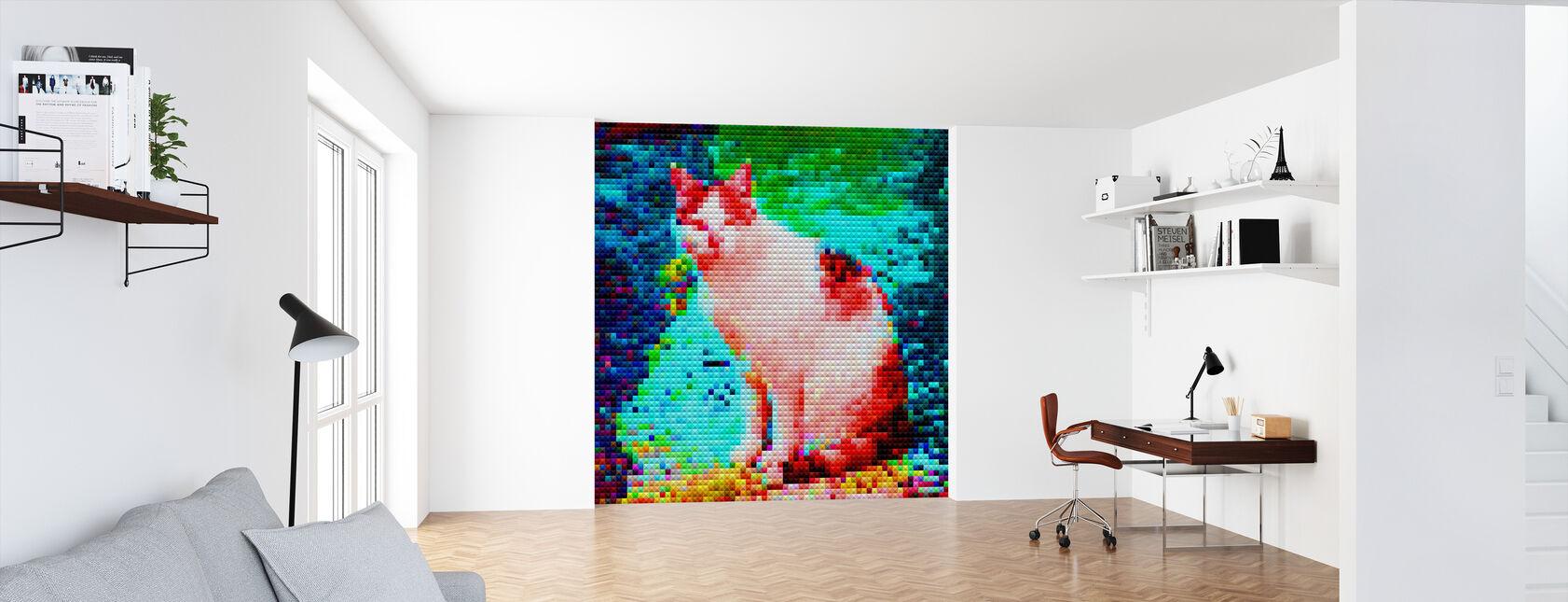 Mosaic Cat - Wallpaper - Office