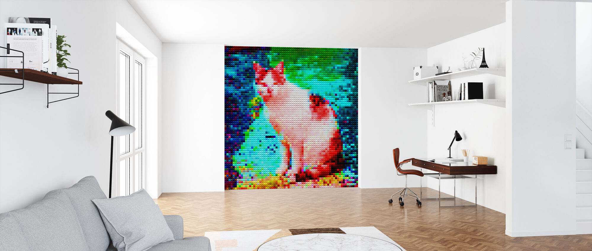 Mosaic Cat - Wallpaper - Office
