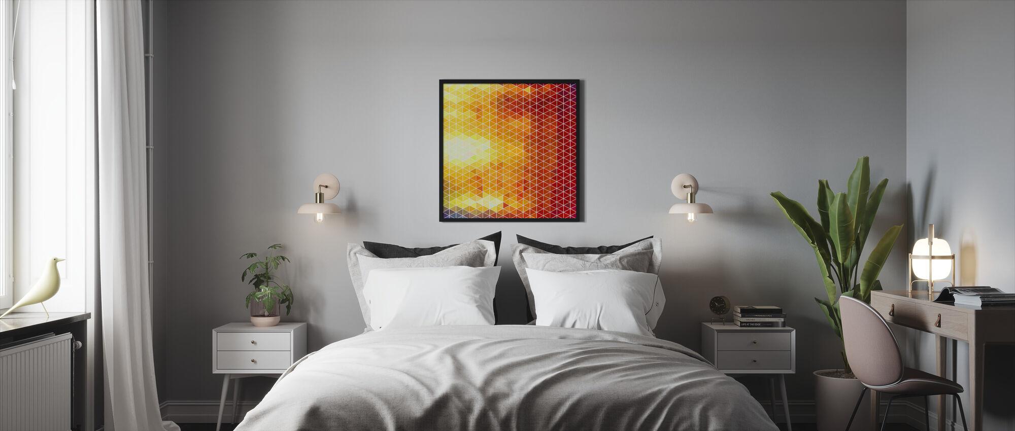 No Gradients - Framed print - Bedroom