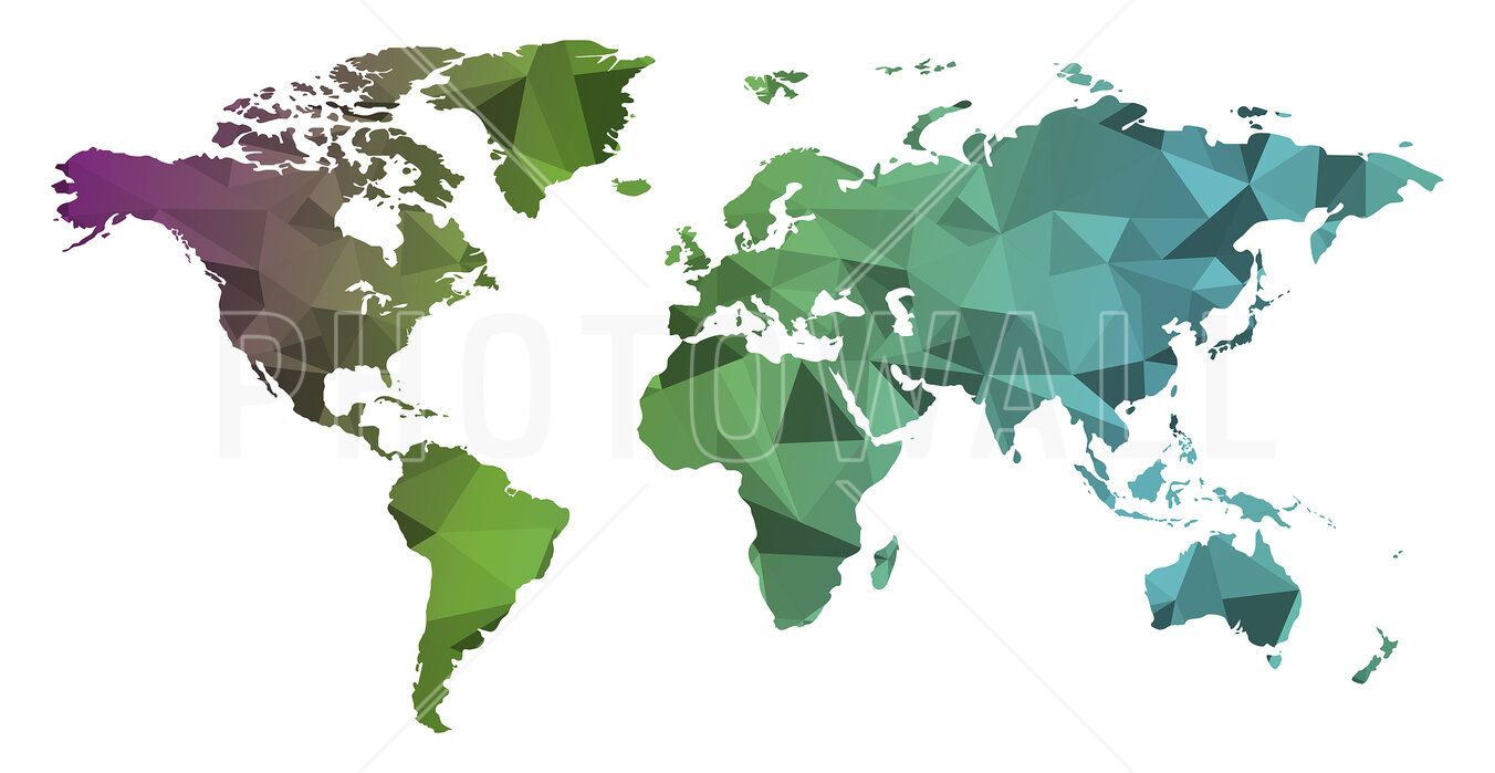 World Map Modern Canvas Print Crafted In London Quality Assured
