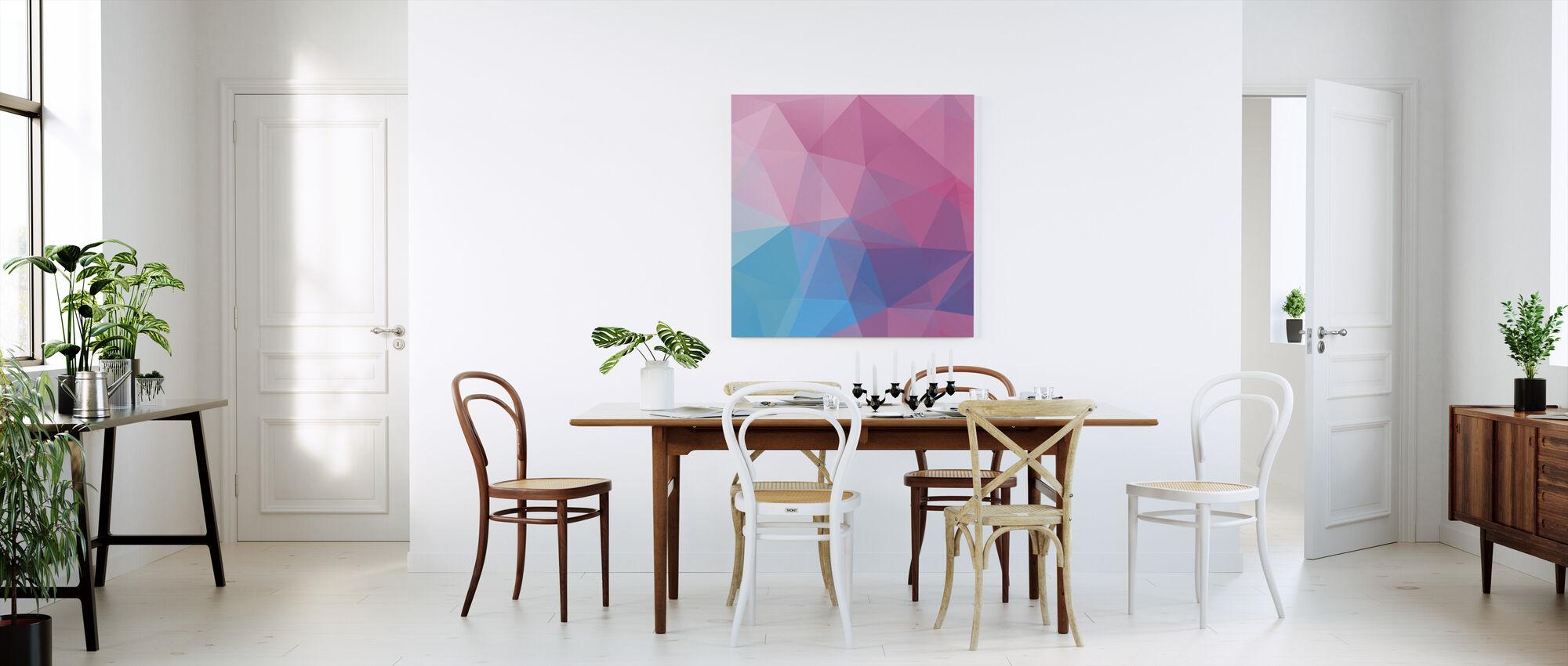 Veelhoekige pastelkleuren - Canvas print - Keuken